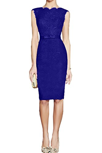 44 Festa Linea donna Prom ivyd sera abito blu Cintura vestito da abito ressing pizzo royal Moda girocollo Custodia Party qfgfRwU