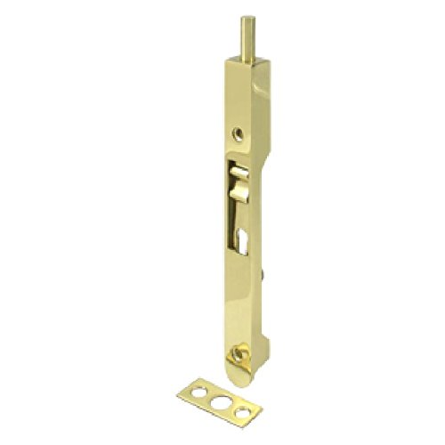 Deltana 7FBR3 HD Solid Brass 7-Inch Flush Bolt