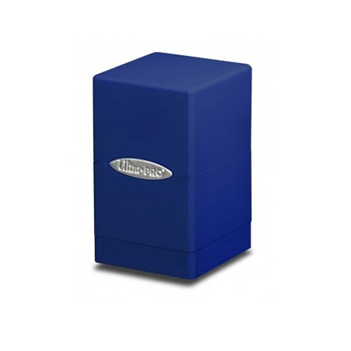 Ultra Pro Blue Satin Tower Deck Box (Ultra Pro Mtg Pro Tower Deck Box)