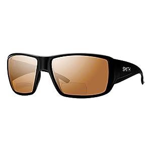 Smith Guides Choice Bifocal Polarized Sunglasses Matte Black/Copper Mirror 2.00, One Size - Men's