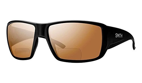 Smith Guides Choice Bifocal Polarized Sunglasses Matte Black/Copper Mirror 2.00, One Size - - Fishing Smith Sunglasses