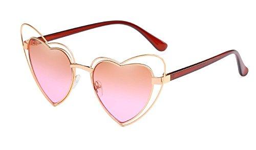 en Corazón Personalidad Polvo Ceniza de de Señoras Mar Gafas de Intellectuality té de Sol Sol Gafas Gafas Sol Forma de gradiente de de Gafas Z7qnpTwA