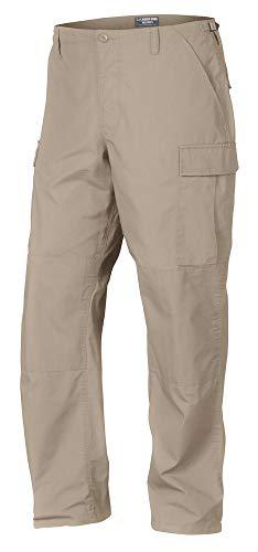 - LA Police Gear Men Rip-Stop Mil-Spec BDU Button Fly Tactical Pant - Khaki - Large/Long