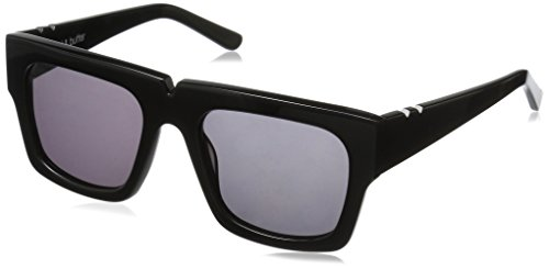 Pared Eyewear Bread and Butter Solid Grey Lenses Square Sunglasses, Black, 21 - Pared Sunglasses