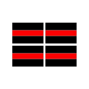 Thin Red Line Decal Firefighters