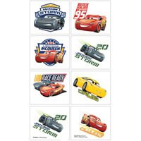 Disney Cars 3 Tattoos 1 Sheet 8 count Birthday Party Supplies