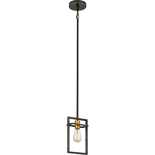 Quoizel JC1507PN Junction Farmhouse Pendant Lighting, 1-Light, 100 Watts, Palladian Bronze (11
