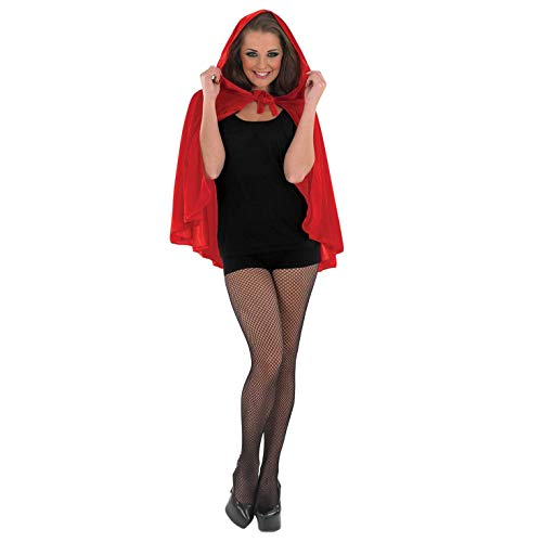 Red Hooded Cape Costume (fun shack Womens Red Riding Hood Cape, One)