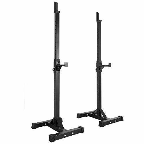 Popsport Deep Squat Rack Series Power Rack Squat Barbell Cage Bench Stand Heavy Duty Multi-Grip Chin-Up Fitness Power Rock for Home Gym (BD-9 Series)