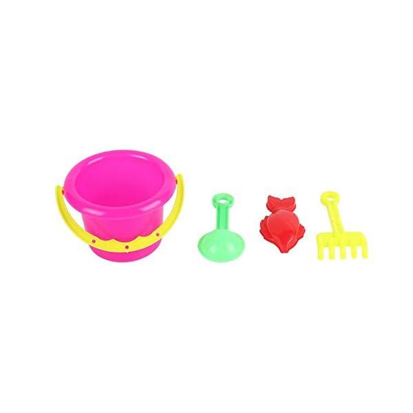 CamKpell 4pcs novità Mini Beach Toys Set Secchiello di Sabbia Secchio con Pala Rake Summer Pool Spiaggia di Sabbia Gioca… 6 spesavip