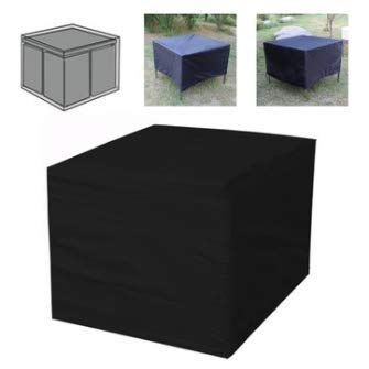 150Cm Black Oxford Cloth Outdoor Waterproof Rattan Cube Table Cover \ Outdoor Stuff Store Stylish Easy Bbq Items Park Kids Tent Camping Room Large Product Beach Travel Portable Bedroom Foldabe Sun Awning Unit Lightweight Generic