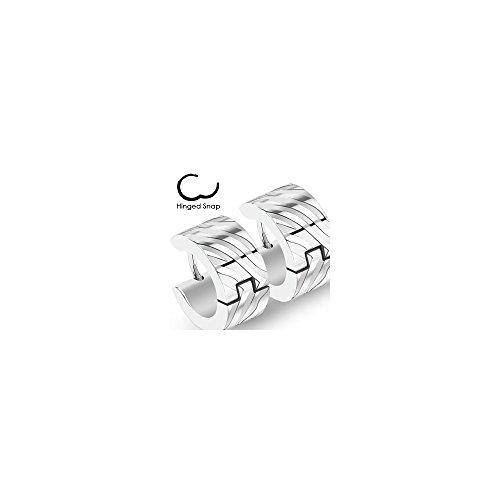 Boucles D'oreille Anneau Steel Design