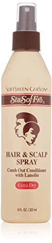 SoftSheen-Carson Sta-Sof-Fro Hair & Scalp Spray Comb Out Conditioner with Lanolin, Extra Dry, 8 fl - Hair Spray And Scalp