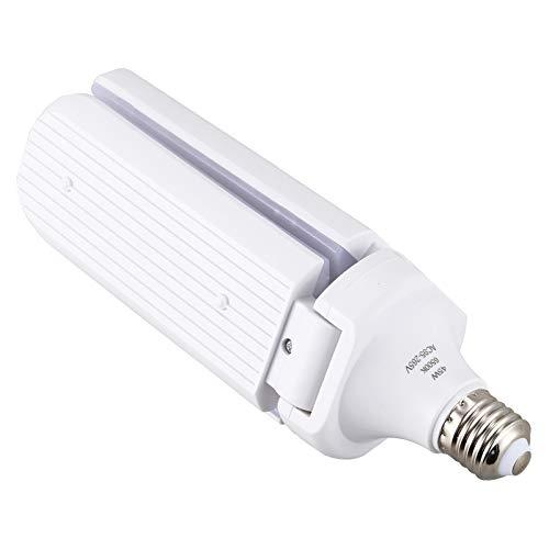 TOOGOO SMD2835 Impermeable S/úper Brillante 45W Bombilla LED Luces de Garaje Ventilador Plegable Aspa Techo L/áMpara de Casa /áNgulo Ajustable E27 E26 Luces de Ahorro de Energ/íA