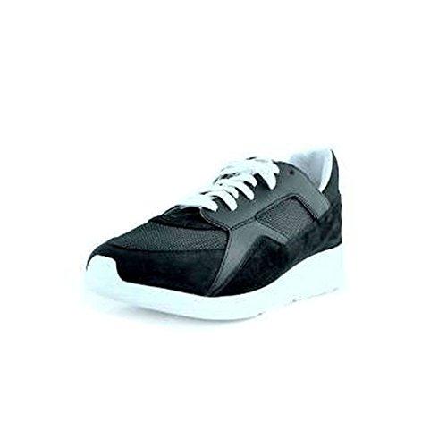 Bikkembergs Scarpe Sneakers Da Uomo Blu In Camoscio e Tessuto, Logo posteriore, Lacci Bianchi, rialzo posteriore Di 5,5cm e Suola In Gomma.