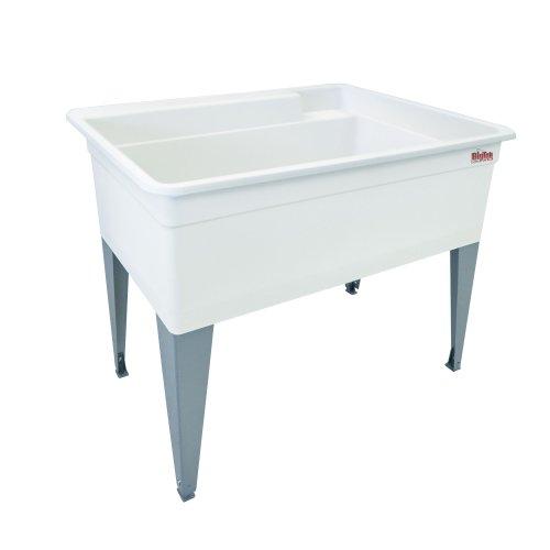 - Mustee 28F Bigtub Utilatub Laundry Tub Floor Mount, 24-Inch x 40-Inch, White