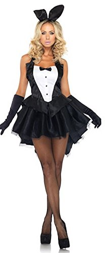 [Tux & Tails Bunny Costume - Small/Medium - Dress Size 4-8] (Bunny Dress Tux Tails Adult Costumes)