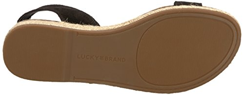 Black Sandal Garston Brand Women's Lk Flat Lucky Black RxwqTYF8RX