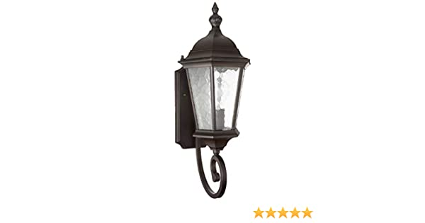 Acclaim 5271BK Dover Collection 1-Light Wall Mount Outdoor Light Fixture Matte Black Commercial Lighting