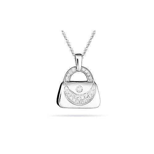 - 0.25-0.30 Cts SI2 - I1 clarity and I-J color SI2 - I1 Diamond Purse Pendant in 14K White Gold