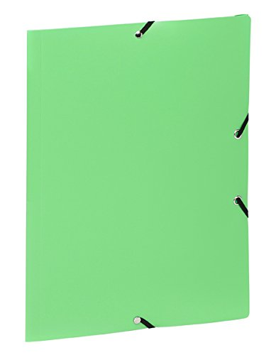 A4Folder with 3Flaps Elasticated Closure, Mint Green ()