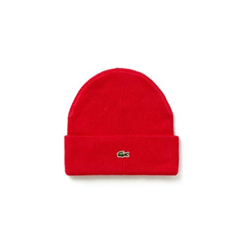 Lacoste Unisex Live Turned Edge Ribbed Wool - Beanie Lacoste Hats