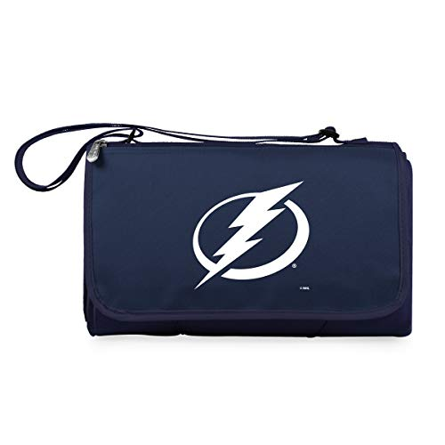 (NHL Tampa Bay Lightning Outdoor Picnic Blanket Tote, Navy)