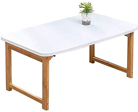 WEIZI Mesa de Escritorio para computadora portátil Bamboo para ...