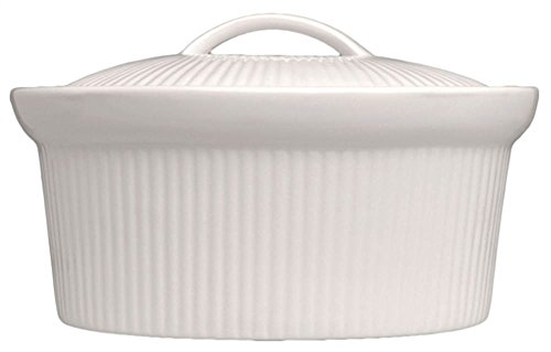 2.5 Qt. Oval Covered Casserole in White