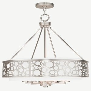 Livex Lighting 86796-91 Avalon 6 Light Chandelier, Brushed Nickel