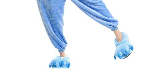 Zarpa invierno Otono Azul Adulto Niños Cosplay Unisexo Pyjamas Animal Traje Wealsex Pijamas Disfraz xnH7wAqg6