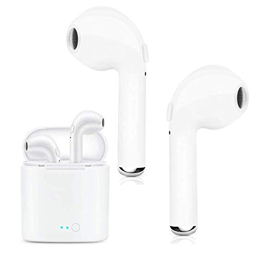 Bluetooth Earbuds, Bluetooth Headphones Wireless Sport Earbuds Mini in-Ear Earphones Stereo Noise Canceling with Charging Case for Workout, Running, Gym (White#)