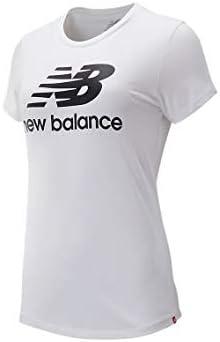 New Balance T-Shirt Femme Essentials Stacked Logo: Amazon.es ...