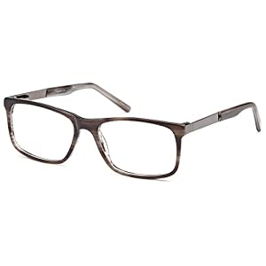DALIX Wayfarer Prescription Eyeglasses Frames 54-17-140 (Gunmetal/Gray)
