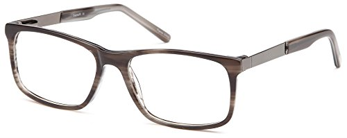 DALIX Wayfarer Prescription Eyeglasses Frames 54-17-140 (Gunmetal/Gray) (54 Eyeglasses)