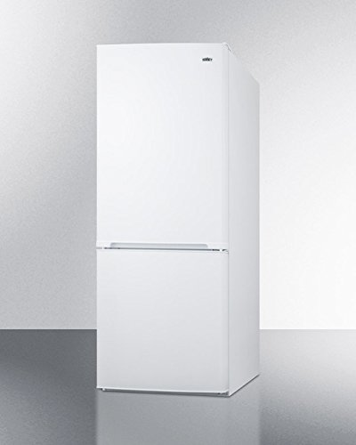 Summit FFBF100WIM Frost-free Bottom Freezer Refrigerator with Icemaker and White Exterior in Unique 60