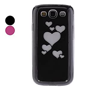 Heart Shape Pattern with Lightning Flash Hard Case for Samsung Galaxy S3 I9300 --- COLOR:Black