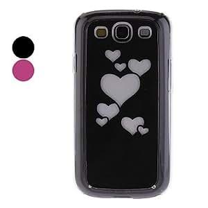 Patrón en forma de corazón con el relámpago estuche rígido de Flash para Samsung Galaxy S3 I9300 , Rosado