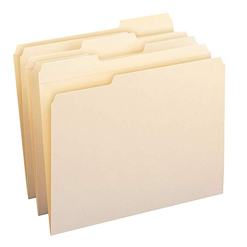 Smead File Folder, Reinforced 1/3-Cut Tab, Letter Size, Manila, 100 Per Box (10334) (Renewed)