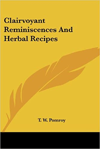 Book Clairvoyant Reminiscences And Herbal Recipes