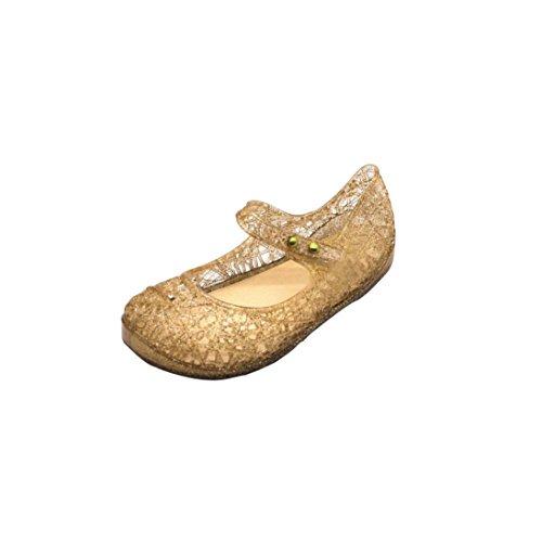 scherzt Baby hohle flache Kleinkind Hunpta Gold Prinzessin Nettes Sandelholz Gelee Schuhe Schuhe ZqXHEtw