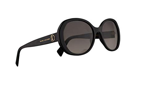 (Marc Jacobs Marc 377/S Sunglasses Black w/Grey Green Lens 56mm 807IB Marc 377S Marc377S Marc377/s)