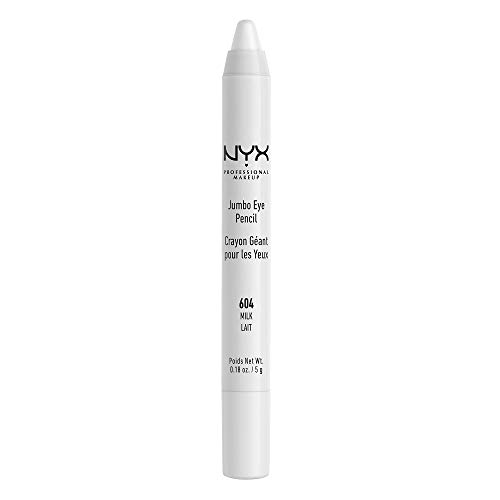 NYX Professional Makeup Jumbo Eyeliner Pencil, Milk, 1 Count (Black And White Tattoos With Pops Of Color)