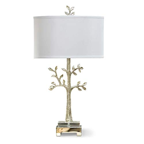 Andrew Design Regina - Regina Andrew Modern Tree 3-Way 150 Watt Max Silver and Resin 1 Socket - Decorative Table Lamp