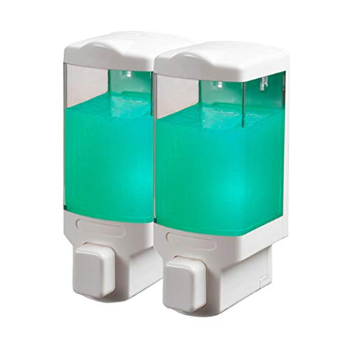 YSXZM Duo Soap Dispenser Wall Mounted Clear Conditioner Better Living Double Chamber Dispenser Shampoo and Conditioner Dispenser