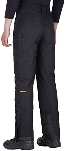 Red XX-Large Waist:40-42 Inseam:30 FREE SOLDIER Mens Waterproof Snow Insulated Pants Winter Skiing Snowboarding Pants with Zipper Pockets