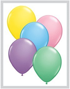 Qualatex 11 Inch Helium Quality Pastel Colors Balloon Assortment - (Package of 100) ()
