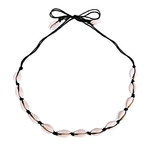 - LILICHIC Simple Natural Shell Necklace, Vintage Bohemian Women's Jewelry Necklace Adjustable Cord Choker, Wedding Gift