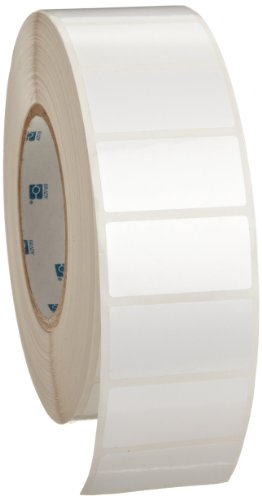 Brady THT-17-423-3 2'' Width x 1'' Height, B-423 Permanent Polyester, Gloss Finish White Thermal Transfer Printable Label (3000 per Roll) by Brady