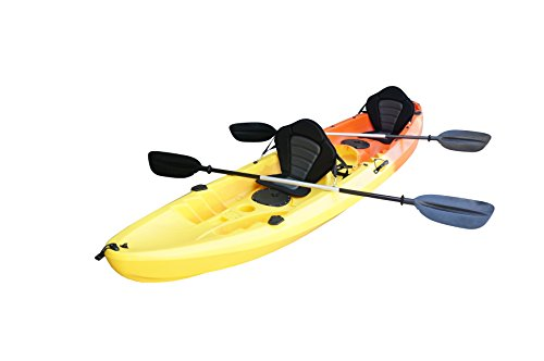 Nixie Sports 13ft Sit On Top Tandem Fishing Kayak With Backrests - Inc 2 Paddles (Tandem Fishing Kayaks)